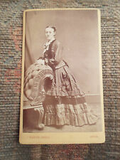 Antique Cabinet Photograph Young Lady In Fabulous Vintage Outfit ~ Sladen, Leeds