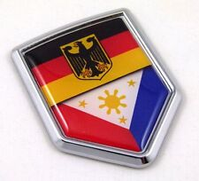 Germany Philippine German Flag Car Chrome Emblem Decal Sticker with adhesive