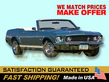 1969 Mustang GT Decals & Stripes Kit