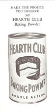 """How to Figure Profits"" Hearth Club Baking Powder 1950's Brochure Rumford  R.I."