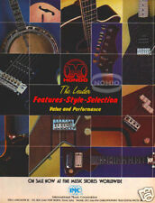 HONDO PINUP AD vtg 80's electic guitar bass banjo II