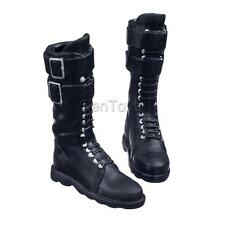 """1/6 Lace Up Martin Boots Shoes for 12"""" Kumik Phicen CY Girl Figures Black"""