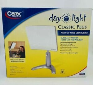 Carex Day-Light Classic Plus Bright Light Therapy Lamp 93011 10,000 LUX MSRP$140