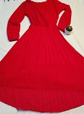 Ladies red dress size 16 used
