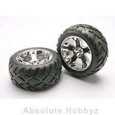 Traxxas Front All-Star Chrome Wheels w/ Anaconda Tires (Jato) - TRA5577R