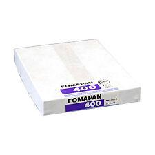"50 Hojas De Fomapan 400. 4 ""x 5"" de gran formato Black & White película con cámara 4x5 5x4"