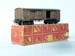 Märklin 332 H0  Rarität:   4-achsiger gedeckter Güterwagen , Metallguss  OVP