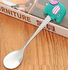FD2668 Stainless Steel Spoon Portable Silicone Handle Coffee Spoon ~Elephant~ ♫