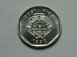 Costa Rica 1992 10 COLONES Coin MS+++ UNC with Lustre & Coat of Arms