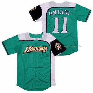 Men Shohei Ohtani #11 Hokkaido Nippon Ham Fighters Green Baseball Jersey