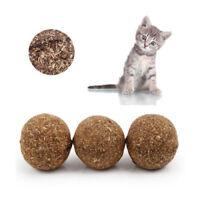 Pet Cat Toys Natural Catnip Healthy Funny Treats Toy Ball For Cats Kitten XG /MY