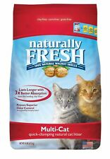Naturally Fresh Walnut-Based Multi-Cat Quick-Clumping Cat Litter, Unscented, ...