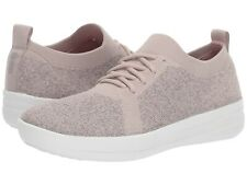 Women's Shoes FitFlop F-SPORTY Uberknit Knit Sneakers Q01-745 METALLIC MINK
