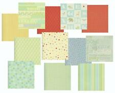 BOY/BABY BOY Double-sided Co-ordinating Scrapbook Cardstock - 12 Sheets