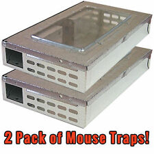2 Pack Multi-Catch Professional Humane Repeater Mouse / Mice Trap Rodent Control
