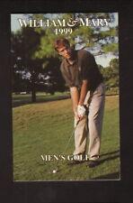 William & Mary Tribe--1999 Golf Pocket Schedule--Patrick Henry Inn