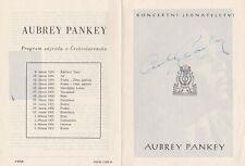 AUBREY PANKEY African American Baritone rare signed program 1955