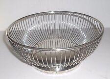 "Vintage Gorham Silverplate Wire Basket Fruit Bowl Usa 8"" dia."