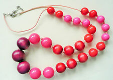 In Beautiful Colours - Brand New Long Accessorize Necklace - Large Round Beads