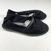 Havaianas Black Canvas Slip On Flat Shoes Casual Summer EU39 US7