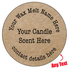 105 x PERSONALISED WAX MELT STICKERS - BUSINESS LABELS WAX MELTS CANDLE - 380