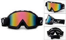 "Snow Ski Goggles ""Gorilla"" Anti-Fog Dual Lens UV400 Snowboarding w Pouch"