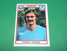 BARRAT BORDEAUX GIRONDINS LESCURE RECUPERATION PANINI FOOTBALL 76 1975-1976