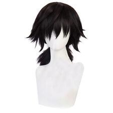 Anime Demon Slayer Kimetsu no Yaiba Tomioka Giyuu Brown Ponytail Wig Cosplay  HO