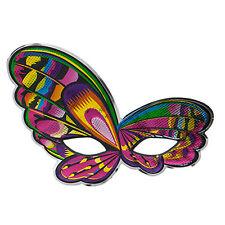 Halloween Fancy Dress Shiny Colourful Mask - Butterfly Design