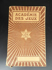Ancien livre Académie Des jeux JLR