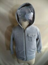 Old Navy N Sherpa Fluffy Insulated Hoodie Gray Poly/Cotton 3 Pockets Size 3T VGC