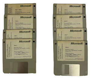 """Microsoft Windows 3.11 for Workgroups on 3.5"""" disks. Untested Disks only."""