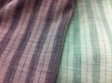 "Top Quality Soft Green Designer Linen Viscose B/w Striped fabric 60""wide"