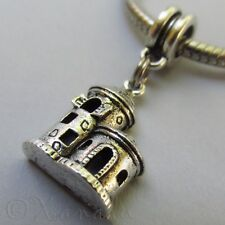 Medieval Castle European Pendant Charm For Large Hole Charm Bracelets