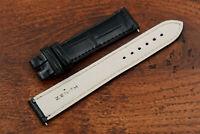 Zenith Cinturino Nuovo Pelle Coccodrillo Black 18mm Hand Made Cool Unisex