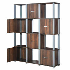 4-Tier Home Living Room Display Shelves Storage Cabinet W/12 Cube Modern Style