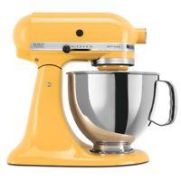 KitchenAid 5-Quart Artisan Tilt-Head Stand Mixer | Buttercup/Orange Sorbet