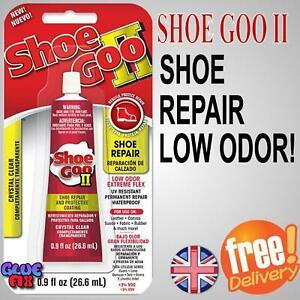 Shoe Goo II Clear 26.6ml  Advanced Low Odour Solvent Free Shoe Glue Repair UK