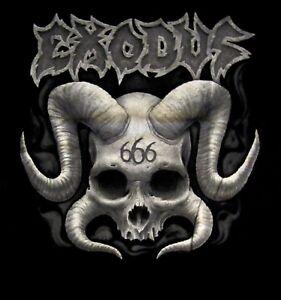 EXODUS cd lgo HORNED SKULL 666 Official SHIRT SMALL New nobp