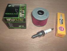 Tune up Kit NGK Spark Plug Oil Filter Kawasaki KLX 250 300 Super Sherpa KL250