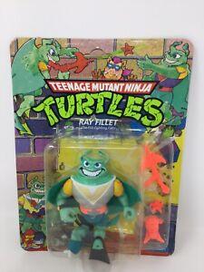 *Damaged ~ TMNT Ninja Turtles Ray Fillet 1990 Playmates Action Figure ~ New