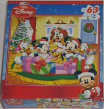 Christmas Mickey Mouse and Friends Jigsaw Puzzle 63 Pieces Minnie Sealed Box
