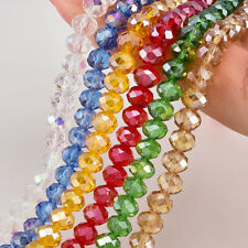 Crystal Loose Spacer Glass Faceted AB 6mm/8mm Wholesale Beads Rondelle