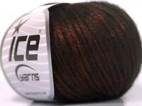 Lot 8 pcs 400g/1000yd Copper Black merino wool Worsted Mettalic winter yarn