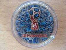 RUSSIA 2018 25 rubles FIFA World Cup COLOR 5 UNC #B5