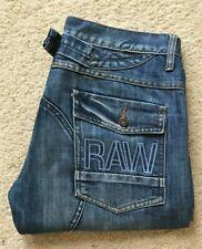 Mens G Star Army Elwood straight leg blue denim jeans W 34 L 30