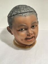 Ceramic Container Jar with Lid - Figural Head of Young Black Boy for Tobacco?