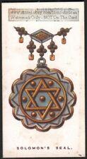 Solomon's Seal  Symbol Original 1920s Trade Card