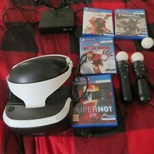 Sony Ps4 VR Headset 2 Motion Controllers PlayStation Cables- Plus Games and More