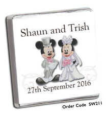 50 Personalised Chocolate Wedding Favours +FAST TURN AROUND+LOADS OF Designs!!!!